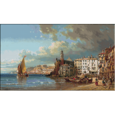 goblen peisaje-prelucrat dupa Charles Kuwasseg-Camogli-Italia