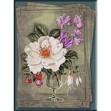 goblen_flori_Cristina-Trandafir salbatic si clopotei
