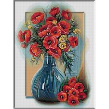 2339.Cristina.kék váza