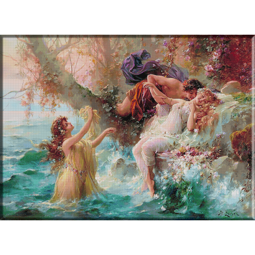 2378.Zatzka-Faun and Nymphs