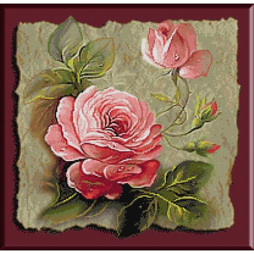 goblen cu flori stropi de roua