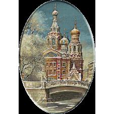 Iarna la Moscova in goblen