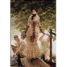 2427.James Tissot-On Thames