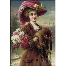 2430.Emile Vernon-Winter Roses