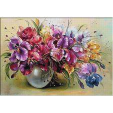 2433.Vase with irises