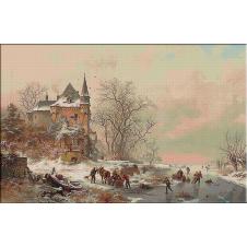 Kruseman peisaj de iarna