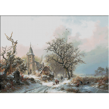 2438.Kruseman-Winter landscape with skaters