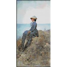 2441.N.Grigorescu-On the sea side