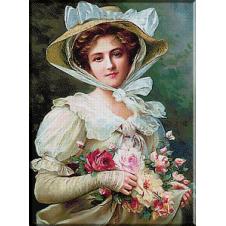 2449.Vernon-Dama s buketom ruža
