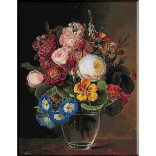 2450.JENSEN JOHAN LAURENTZ-Cup with flowers