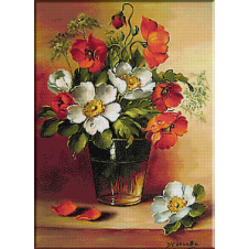 2460.Bowl of poppies