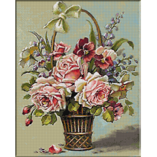 2475.Basket with flowers
