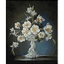 Flori alba goblen