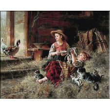 goblen-Prieteni copii si animalute