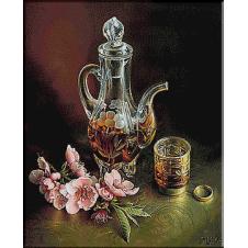 Natura statica cu cognac-goblen