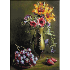 2516.Still life with grapes