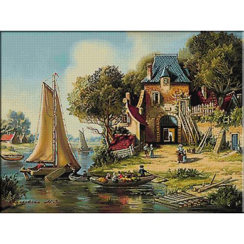 goblen peisaj- basm olandeza