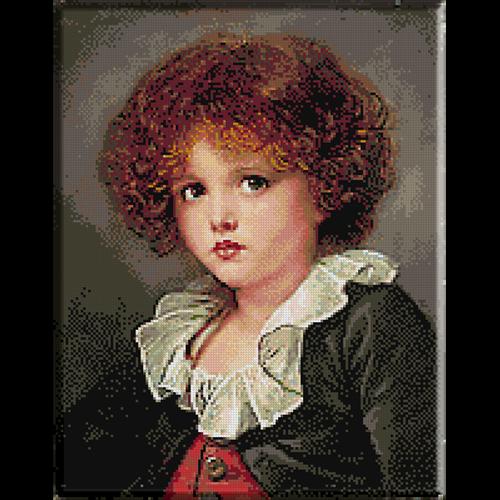 2554.Jean Baptiste Greuze-Boy with red vest