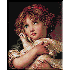 2556.Jean Baptiste Greuze-Girl with pigeon