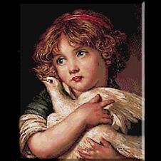 2556.Jean Baptiste Greuze.Момиче с гълъб