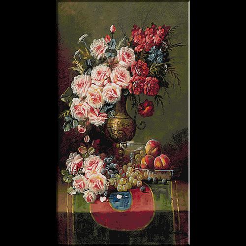 2566.Max Carlier-ваза с рози