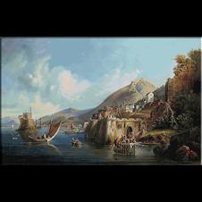 goblen peisaj-port ialian