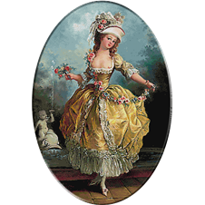 2561.Frederic Schall. táncos