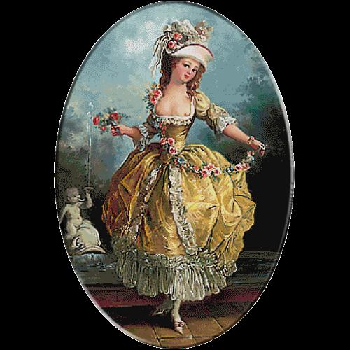 goblen balerina ghirlanda
