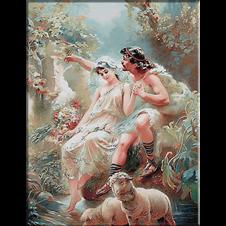2605.Konstantin E. Makovsky-lovers