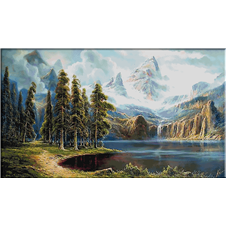2608 Landscape with mountain