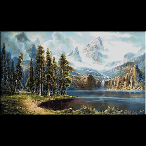 2608 Пейзаж с планински