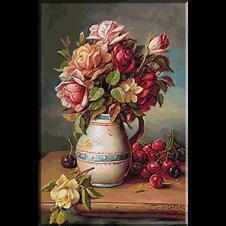 2617.Hans Zatzka - Ruže i trešnje