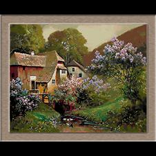 2634.Alois Arnegger-Lila virágok