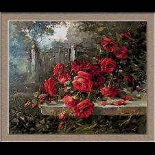 2659.R. Masson Benoit-червени рози