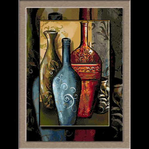 2664.Cristina. Clay pots