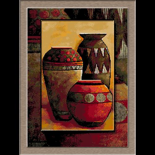 trei vase de lut-Cristina