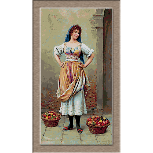 2679.Eugene de Blaas-Продавач на плодове