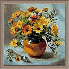 2688.flower in pot of honey