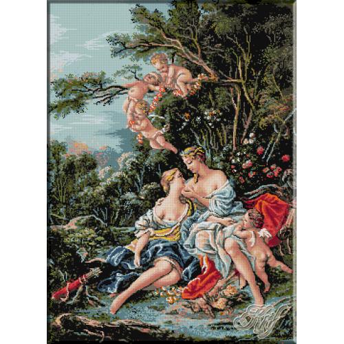 328.Boucher - Jupiter si Callisto
