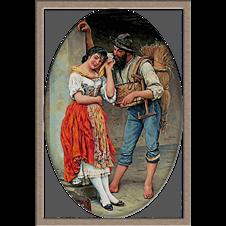2743.Eugene de Blaas-Паякът и мухата