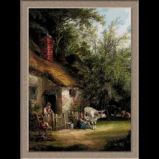 2764.William Shayer-Seljaci ispred kuća