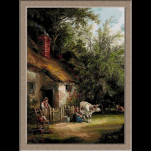 2764.William Shayer-Селяни пред къщи