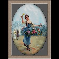 2778.Louis Marie de Schryver-Цвете момиче