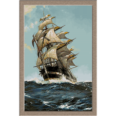 2782.Montague Dawson-On the crest of the Waves