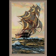 2783.Montague Dawson-Navigacija kroz zalazak sunca