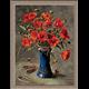 2785.Макове в синя ваза