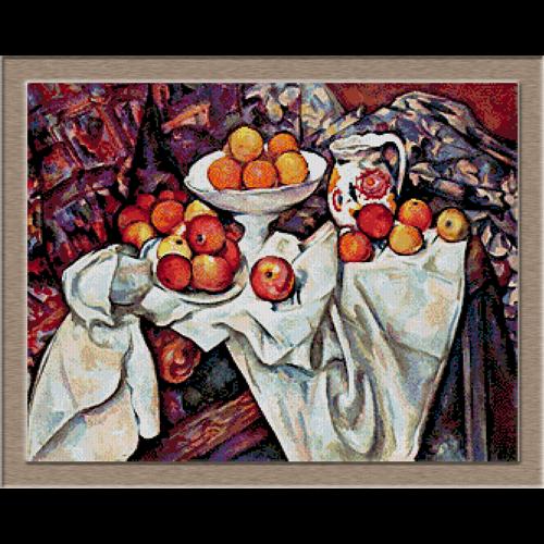 2797.Paul Cézanne-Apple painting