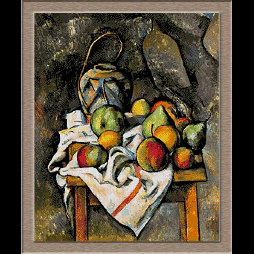 2799.Paul Cézanne-Картина на ябълките и крушите