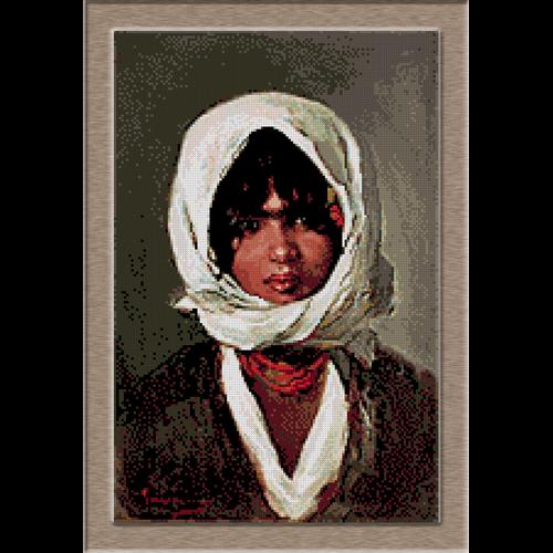 2817.N.Grigorescu-Селянин с бяла приказка