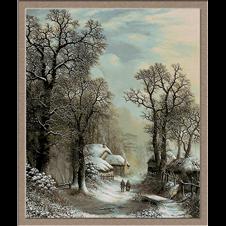 2826.Charles Leaver-Zima na ulici